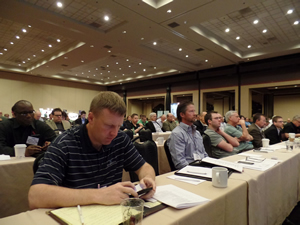 PPG's vice president of flat glass Richard Beuke  held the audience in rapt attention at today's BEC Conference.