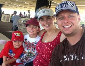 From right to left: Husband Thomas, Holly and Biller boys Cameron and Hudson on a recent vacation in Orlando.
