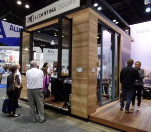 The La Cantina booth was friendly and functional, yet conveyed a definite air of high design and comfort.