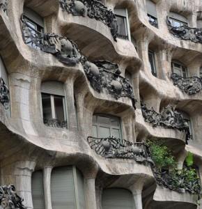 A close up of La Pedrera's windows