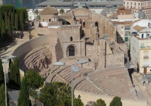 The city of Cartegena Spain is home to ruins that date back to the pre-roman era. These are its most famous Roman ruins, its theater