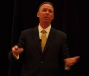 Apogee CEO Joseph Puishys waltzes through his presentation at GANA