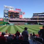 Opening day at Nationals Park.