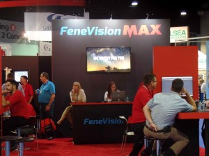 The Fenetech booth sported a coordinated professional look.