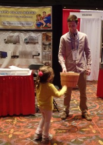 This future glaxier in training pulled the winning ticket in the myglasstruck.com drawing for a truck rack worth $1300.