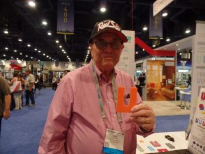 Dave Braune of Groves does a shim-ie shake with his new-sized shim.
